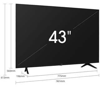 smart tv 43 pollici hisense
