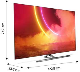 smart tv 55 pollici dimensioni