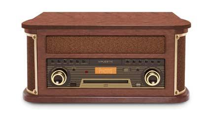 majestic tt dab impianto stereo casa con giradischi vintage