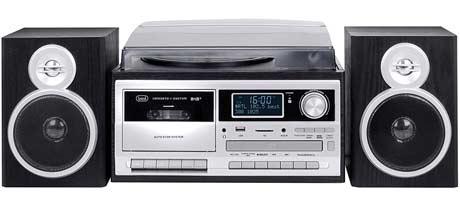 trevi tt impianto stereo con giradischi