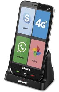 smartphone per anziani 4g brondi amico